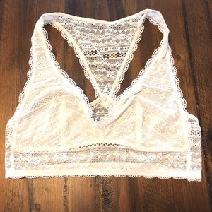 VS White Lace Bralette